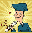 male graduate from university or college vector image
