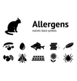 Allergen set Fish cat insect chocolate vector image