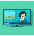 Good TV news flat cartoon vector image