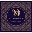 Monogram design elements graceful template vector image