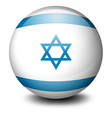 a soccer ball with flag israel vector image vector image