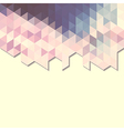 abstract background banner of triangles vector image vector image