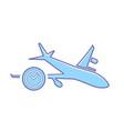 airplane clock flight plane transport travel icon vector image vector image