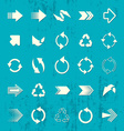 Arrow sign icons retro collection vector image