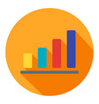 bar chart business flat icon modern style vector image vector image