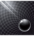 Black glass ball and rays of light vector image vector image