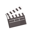 black open movie clapperboard vector image vector image