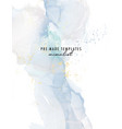 blue abstract watercolor alcohol ink poster vector image vector image