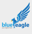 blue eagle vector image vector image