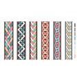 braid lines wicker borders colored knoted vector image vector image