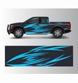 cargo van and car wrap truck decal designs vector image vector image