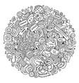 cartoon cute doodles hand drawn social media vector image vector image