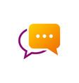 chat talk communication logo vector image vector image