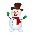 christmas snowman snowman vector image vector image