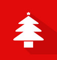 christmas tree icon on white background vector image vector image