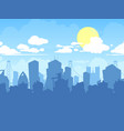 city landscape cloudy urban flat vector image
