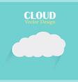 cloud design template cloud light blue back vector image