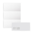 collection various blank white paper on white vector image