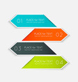 colorful text box trendy colors vector image vector image