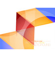 colors triangle shape scene vector image vector image