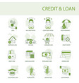 credit and loan a set simple icons vector image vector image