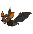 Cute Cartoon bat flying vector image vector image