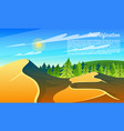 desertification forests climate change vector image