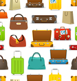 Different color travel bags collection Seamless vector image vector image