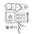 doodle portfolio wireframe vector image