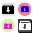 download folder flat icon vector image