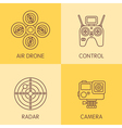 Drone Line Icons vector image vector image