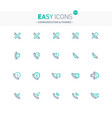 easy icons 31e phones vector image vector image