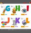 educational cartoon alphabet letters set vector image vector image