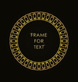 elegant golden frame in trendy outline style vector image