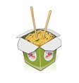 Fast food Chinese noodles in vector image