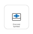 First Aid Symbol and Medical Services Icon vector image vector image