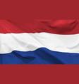 flag kingdom netherlands vector image vector image