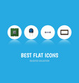 flat icon appliance set of resistor transducer vector image vector image