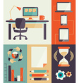 Freelance infographic vector image vector image