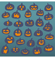funny pumpkin face background vector image vector image