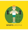 Gym bodybuilding concept design flat vector image