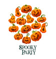 halloween pumpkin banner for october holiday party vector image