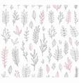 Hand drawn vintage botanical pattern