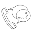 Handset with speech bubbles icon outline style vector image