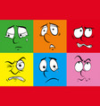 human faces with different feelings vector image vector image