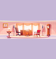 interior oval office in white house vector image vector image