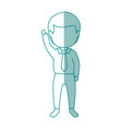 isolated office man standing vector image