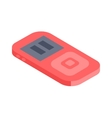 isometric music player 3d icon for web vector image