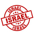 israel red round grunge stamp vector image vector image
