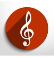 music key web icon vector image